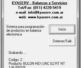 Software para Carga de Productos en Placa Base NC3M