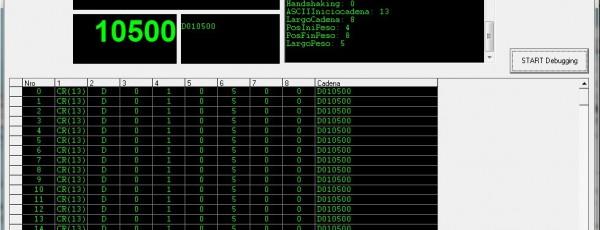 Debugger Salida de Datos Balanza