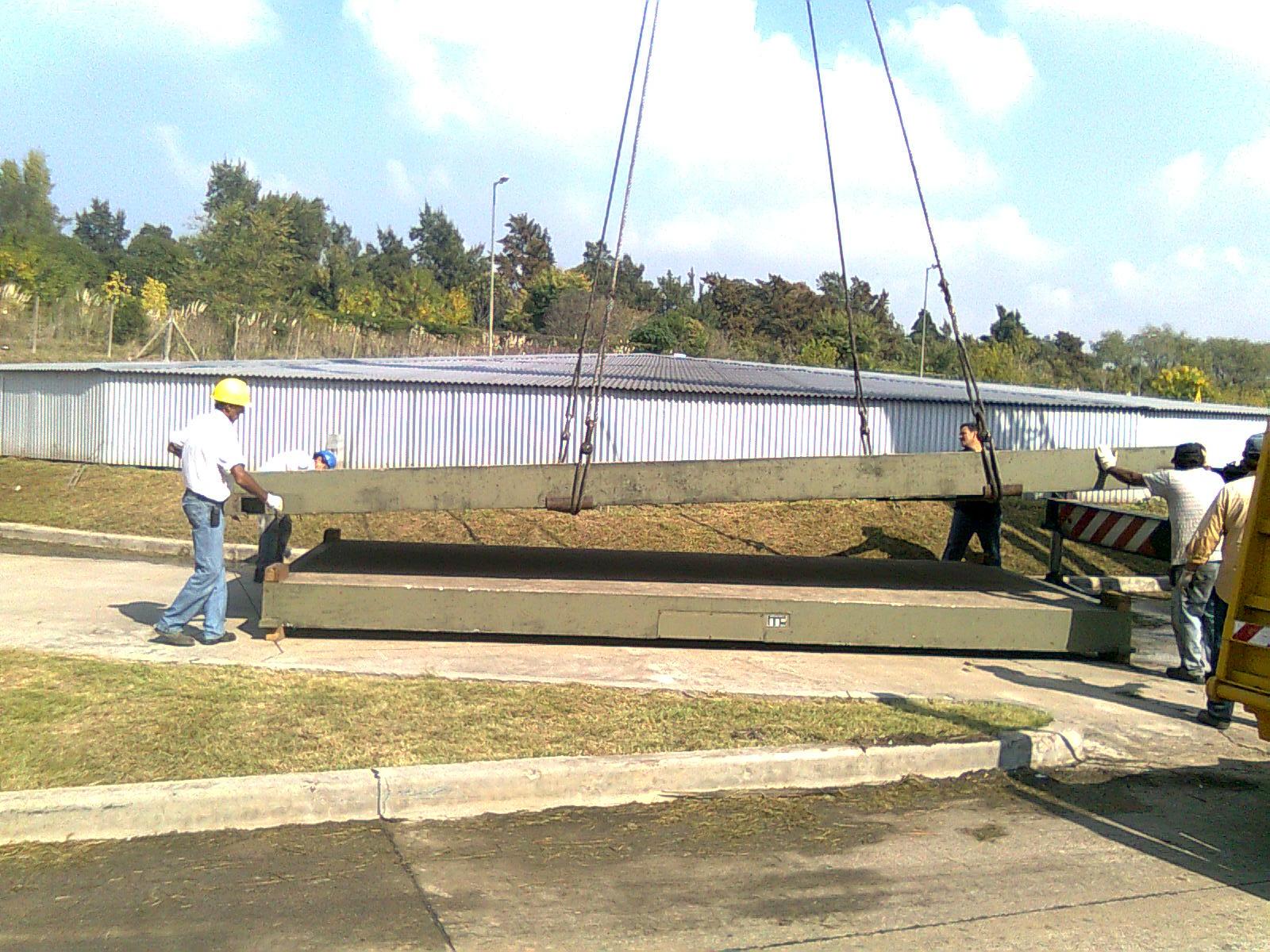 Traslado balanza camiones full-electrónica de hormigón
