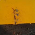 Rajadura en el borde de la plataforma