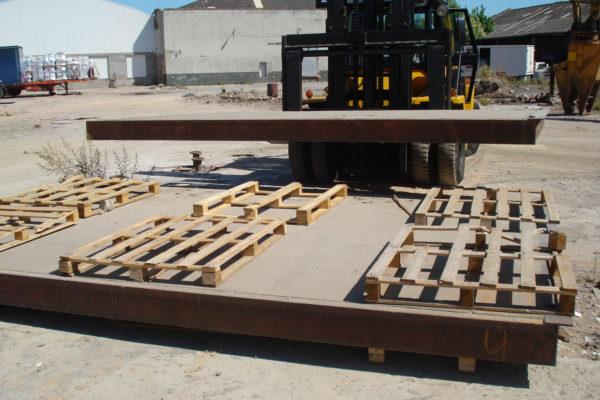 Reparación y posterior desmontaje balanza camiones full-electrónica de hormigón